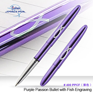 Fisher Space Pen Classic魚圖紫殼筆